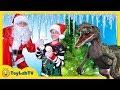 The Grinch Showdown Christmas Adventure With Santa Snowball Challenge Dinosaur Jurassic Toy