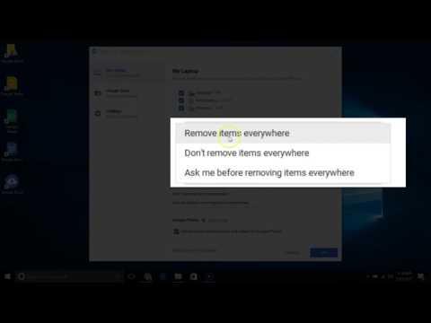 Change Google Backup and Sync settings Choose How Google Backup and Sync deletes files