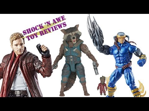 Marvel Legends Guardians of the Galaxy Vol. 2 - Star Lord, Rocket Raccoon, Death's Head II Review