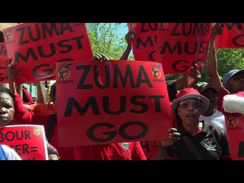 South Africa: anti-corruption protest in Johannesburg