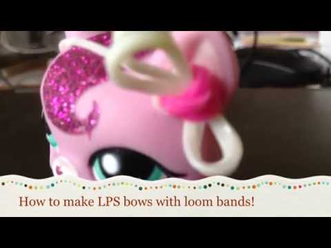 DIY: LPS Bow With Loom Bands