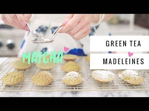 Green Tea (MATCHA) Madeleines ♥ HOLIDAY FOODIE COLLAB!