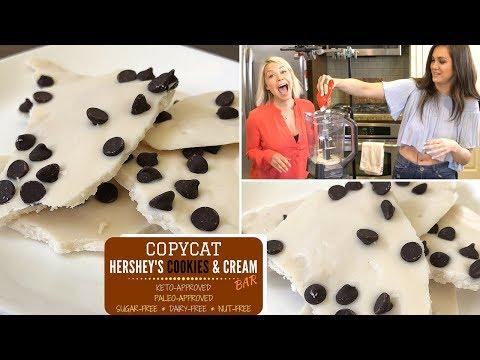 COPYCAT: Hershey's Cookies 'N' Cream Bar - KETO & PALEO APPROVED!