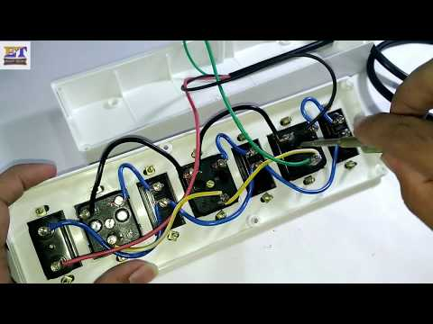 Extension Board Wiring | Electric  Extension Board At Home | Switch and Socket Connection