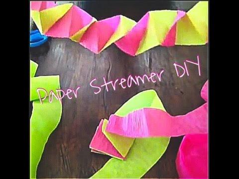 Paper Streamer Decorations