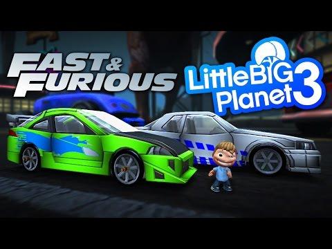 LittleBigPlanet 3 - FREE Fast & Furious Cars - Paul Walker Tribute