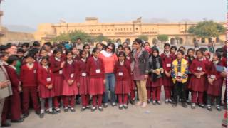We are in India with primary school students.