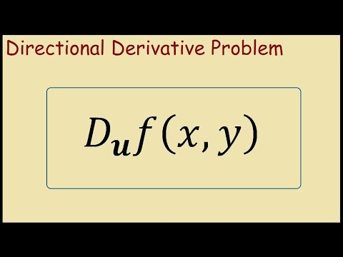 How to find the directional derivative at a point for a given vector