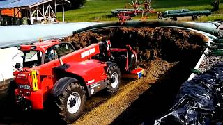 World Amazing Modern Agriculture Equipment and Mega Machines: Silo Compaction Tractor