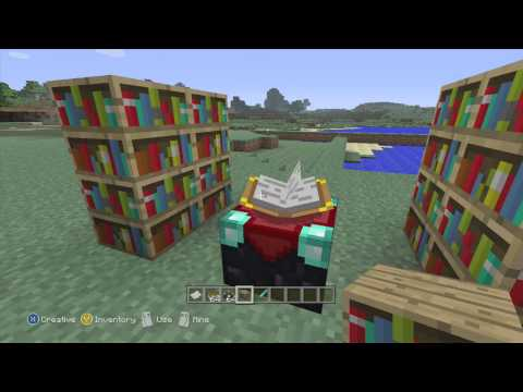 ULTIMATE: Enchantment Table and Books Tutorial Minecraft Xbox 360