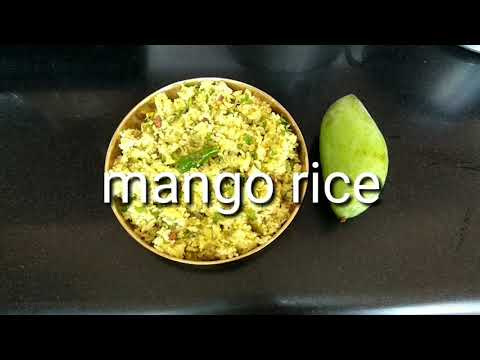 Raw mango rice | mavinakayi chitranna | maanga saadam recipe
