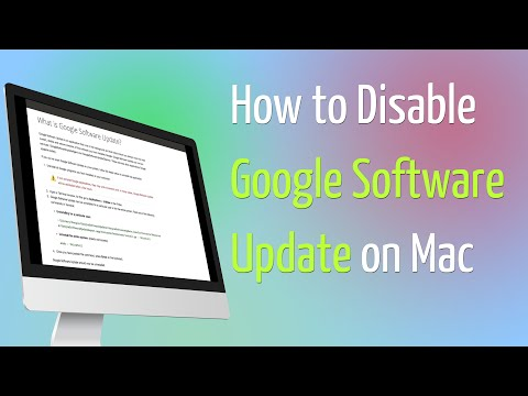 How to Disable Google Software Update Mac