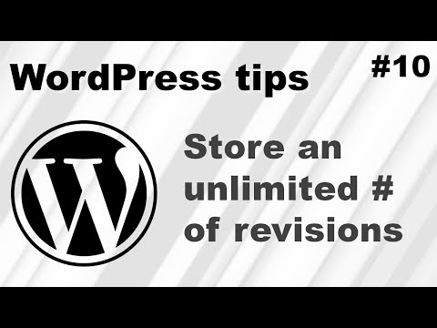 How to set WordPress to store an unlimited amount of revisions