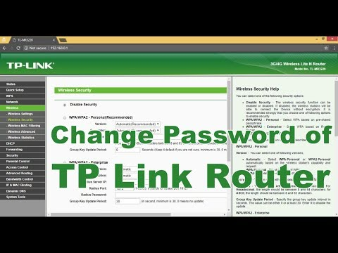 How to Change Password of TP Link WiFi Router (Urdu - Hindi) 2018