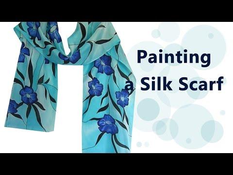 How I paint a Silk Scarf: painting, steaming, etc - PolganiStudio