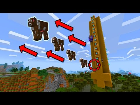 RAPID FIRE MOB CANNON in MCPE!!! - Minecraft Pocket Edition (1.1+)