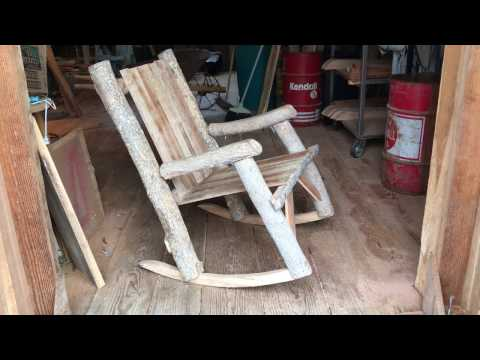 How To Make Your Own Log Rocking Chair, DIY Woodworker Project