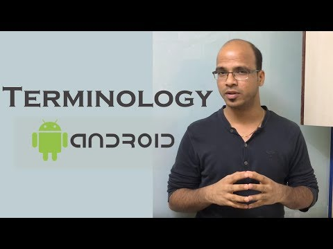 Terminology in Android Programming