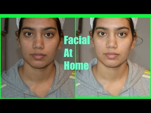 How to do Facial at home Naturally | Facial for Acne prone skin|7 Step by step facial with remedies