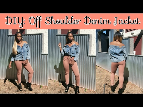 DIY Fashion| Off Shoulder Denim Jacket (How To: Step by Step)