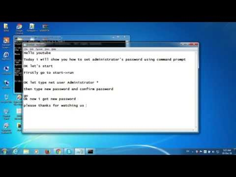 How to reset/change administrator password in windows 7 using command prompt #1