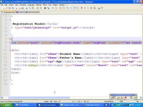 Javascript Bangla Tutorial::Ch11: Form Validation in Javascript - Part 2