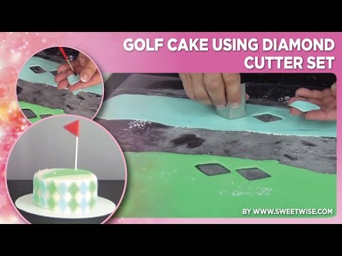 Golf Cake Using Diamond Cutter Set by www SweetWise com