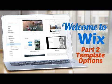 Welcome to WIX Part II: Template Options