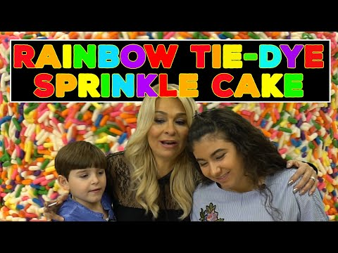 Cake Boss Kids Make the Best Rainbow Tie-Dye Sprinkle Cake | Welcome to Cake Ep11