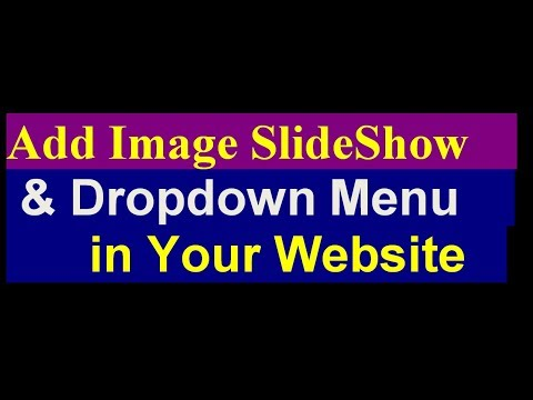 how to add image slider and dropdown menu in website - slideshow and dropdown tutorial