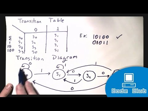 ICS4U - Finite Deterministic Automata (Drawing Transition Tables and Diagrams)