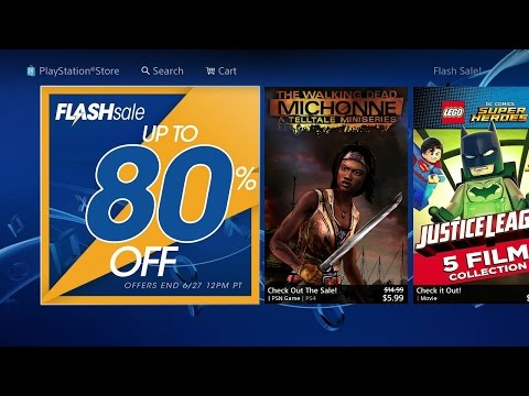 Huge Flash Sale Up To 80% Off Digital Games on The PS4