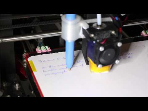 3DWriter (free) - Use your 3D Printer with a pen to write letters, birthday cards etc