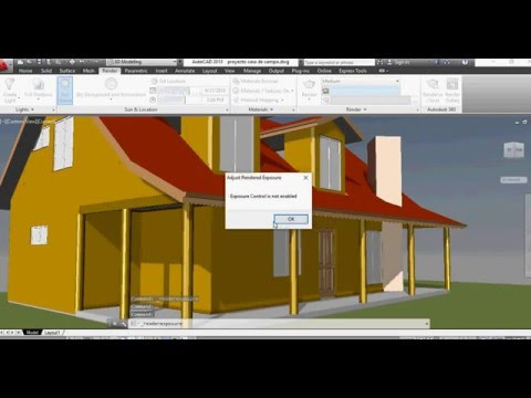 Autocad 3d camera adjustments Rendering and Sky view Tutorial
