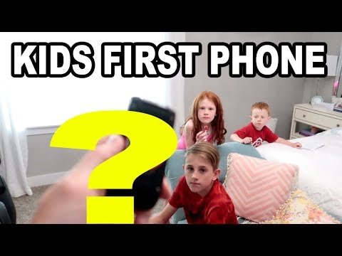First Cell Phone Surprise for the kids