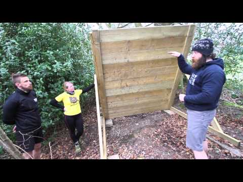 How to climb an overhanging wall at obstacle races