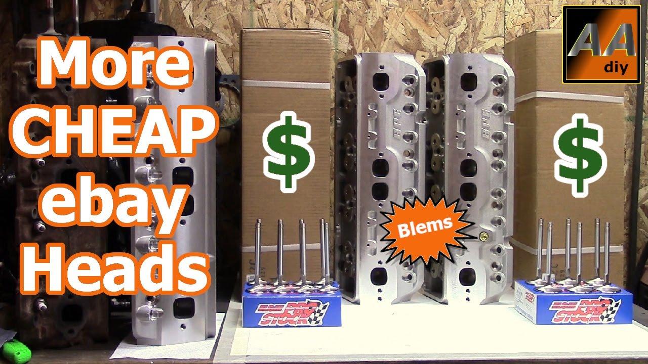 ebay BLEM Blueprint Engines H8002K SBC Aluminum Cylinder Heads Inspection