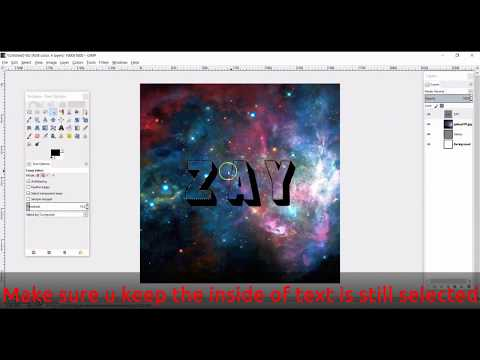 How to Create Galaxy Text using GIMP