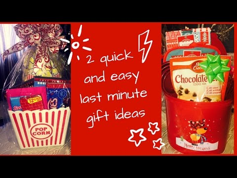 Quick And Easy Gift Basket Gift Ideas| DIY Goodie Basket