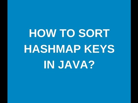 How to sort hashmap keys in java?