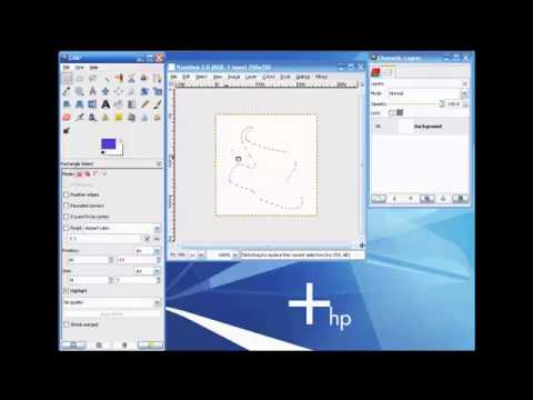 The Gimp - Video 05 - How To Use The Freehand Tool - 2.39 Minutes