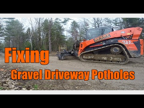 How To Fix Annoying Potholes In a Gravel Driveway