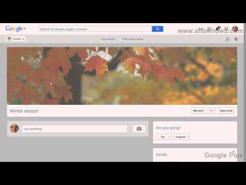 Google+ - How To Edit An Event