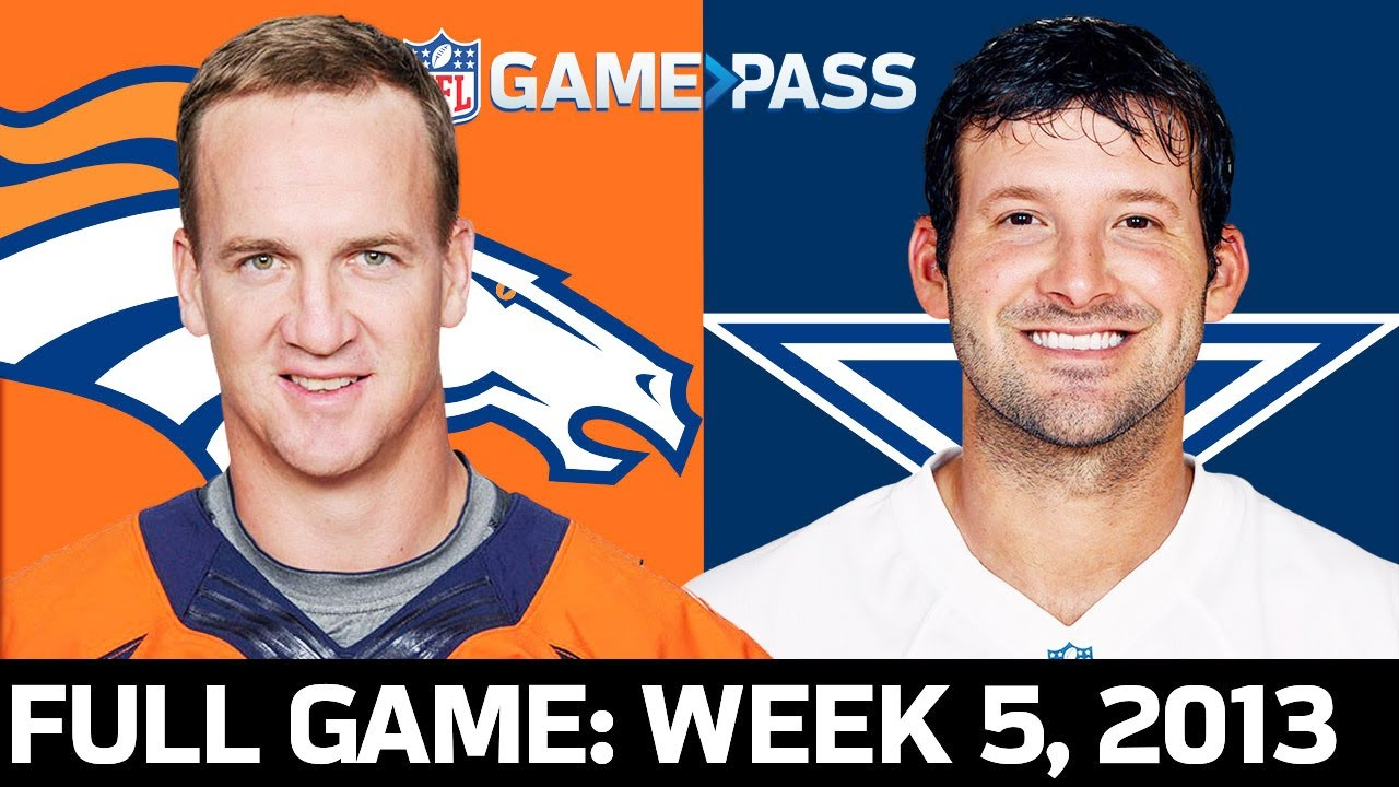 Peyton Manning vs. Tony Romo in an EPIC Shootout Broncos vs. Cowboys Week 5, 2013 Full Game