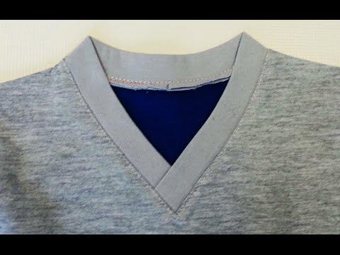 DIY  Sewing course How to sew a V Neckline T-shirt. Jak uszyć serek na zakładkę w koszulce