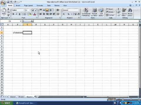 ms excel tips no 8 type a number starting with zero