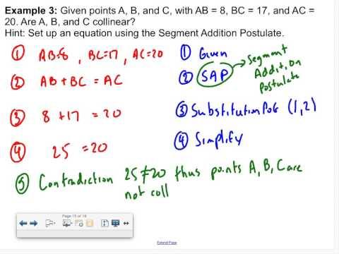 Algebraic Proofs Examples