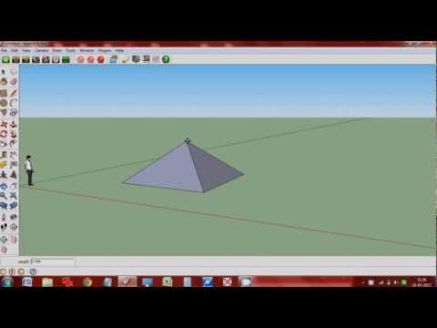 How to make a Pyramidal roof/Pyramid in Google sketchup?