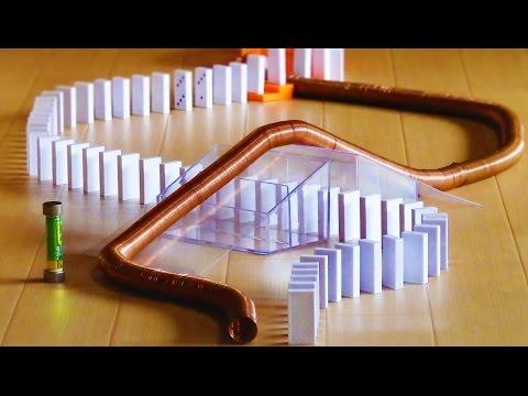 Domino vs Simplest Electromagnetic Train