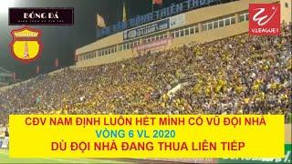 CĐV Nam Định cuồng nhiệt phủ kín Thiên Trường Vòng 6 VLeague 2020 dù đội nhà đang thua liên tiếp